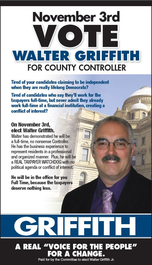 Vote for Walter on November 3rd!